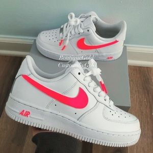 Neon Air Force 1 Nike customs